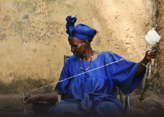 Woman earning a sustainable living